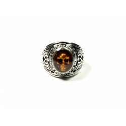 """Bague américaine U.S. ARMY """"The Ghost"""" cristal Ambre By BPC"""