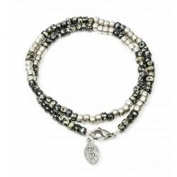 Bracelet double tour Matubo Picasso black et silver
