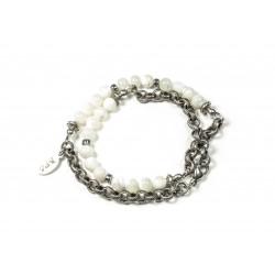 Bracelet double mini Nacre et chaine
