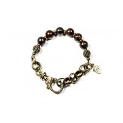 Bracelet Bronzite et chaine