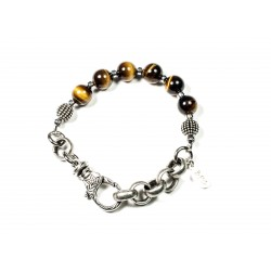 Bracelet Oeil de tigre et chaine