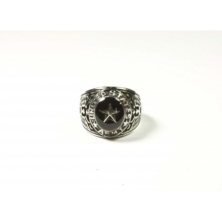 "Bague américaine U.S. ARMY ""Silver Star"" cristal By BPC"
