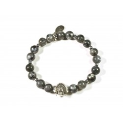 Bracelet Larvikite et Indian Skull