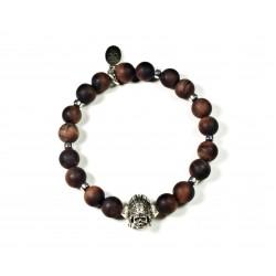 Bracelet Oeil de taureau mat et Indian Skull