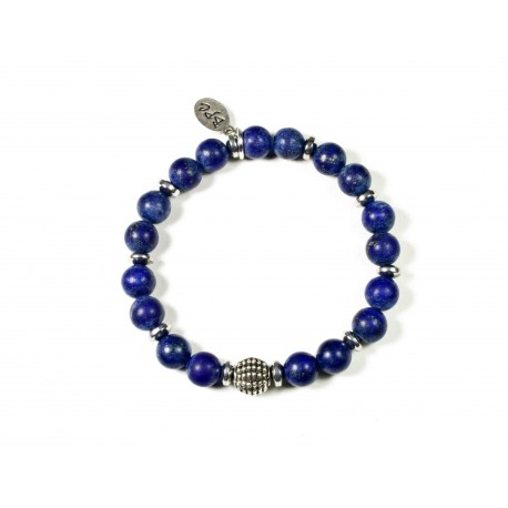 Bracelet Lapis Lazuli mat et Hématite