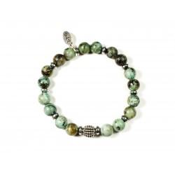 Bracelet Turquoise Africaine et Hématite