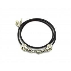 Bracelet lacet cuir double tour