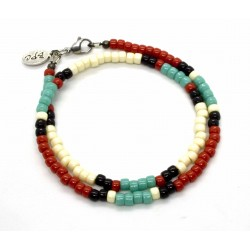 "Bracelet double tour Matubo ""Native Style"" mix colors"