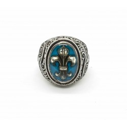 "Bague ""Lys Sylver"" turquoise By BPC"