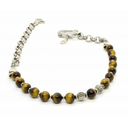 Wallet chain, manille & Tiger eye