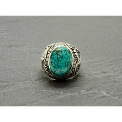 Bague Turquoise naturelle Nevada & argent 925