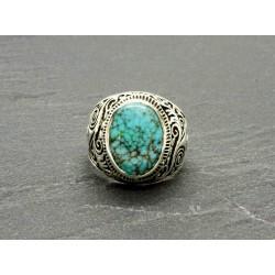 Bague Turquoise naturelle & argent 925
