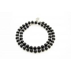 Bracelet double Onyx noir