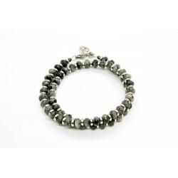 Bracelet double Larvikite