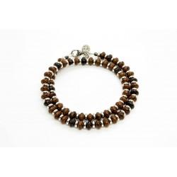 Bracelet double Obsidienne acajou