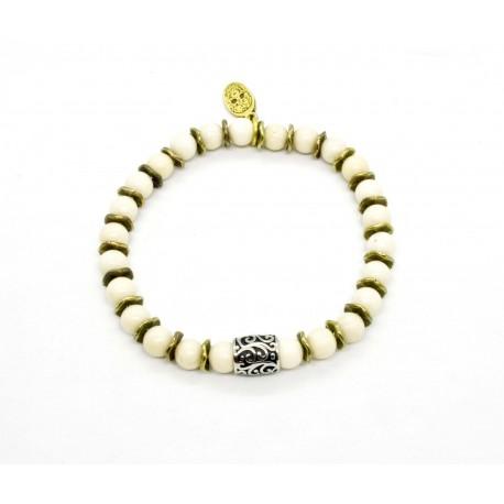 Bracelet mini Riverstone et perle ciselée