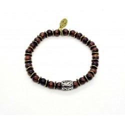 Bracelet double tour Impérial rouge personalisé