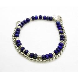 Bracelet Lapis Lazuli et chaine de blé