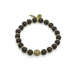 Ebony and brass bracelet