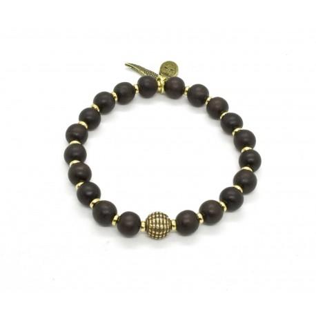 Bracelet bois d'Ebène et laiton