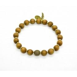 Bracelet bois de Santal et laiton