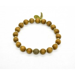 Sandalwood and brass bracelet