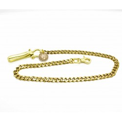 """Wallet chain """"Curb chain"""" Solid brass"""