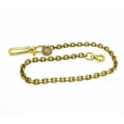 "Wallet chain ""forcat"" Solid brass"
