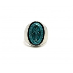 "Bague chevaliere ""The Holy Ring"" Blue"