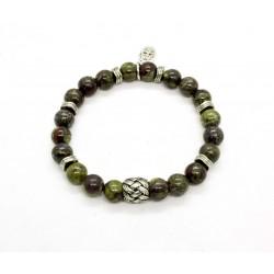 Bracelet dragon Jasper and braided bead