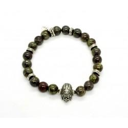 dragon Jasper and Indian skull bracelet