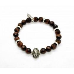 Bracelet Oeil de taureau et Indian skull