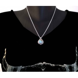 """Collier turquoise """"Number 8"""" argent 925"""