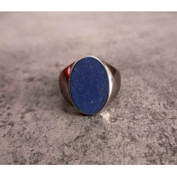 Chevaliere lisse sable gemstone