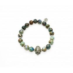 Chrysocolla and Indian Skull Bracelet