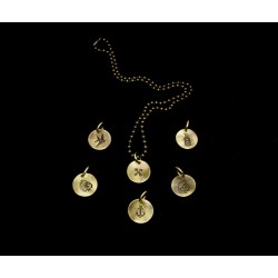 Necklace brass Tattoo Sailor style