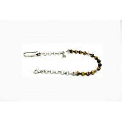 Tiger eye wallet chain