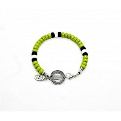 Bracelet Matubo 6mm vert wasabi