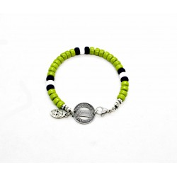 Matubo 6mm green wasabi bracelet