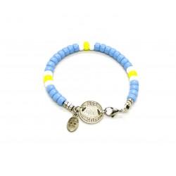 Bracelet Matubo 6mm Bleu