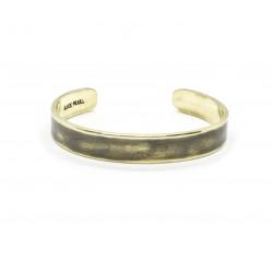 Patinated brass cuff