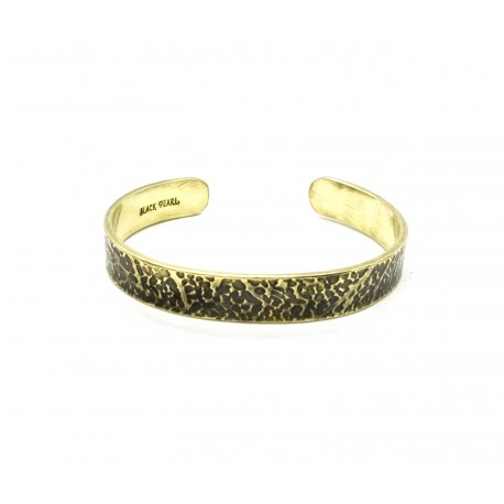"""Bracelet Cuff """"Leaves"""" laiton patiné"""
