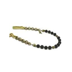 Onyx and Lava Stone wallet chain