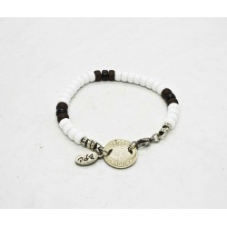 Bracelet Matubo 6mm blanc