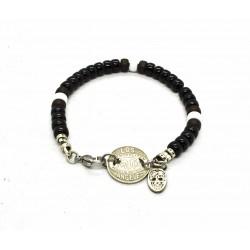 Bracelet Matubo 6mm noir