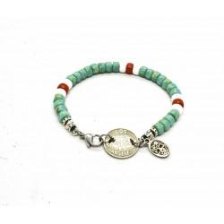Bracelet Matubo 6mm turquoise