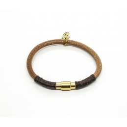 Natural round leather bracelet