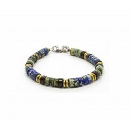 Jaspe Deep Blue Heishi Bracelet