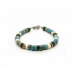 Jaspe Turquoise Blue Heishi Bracelet
