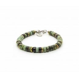 African turquoise Heishi Bracelet